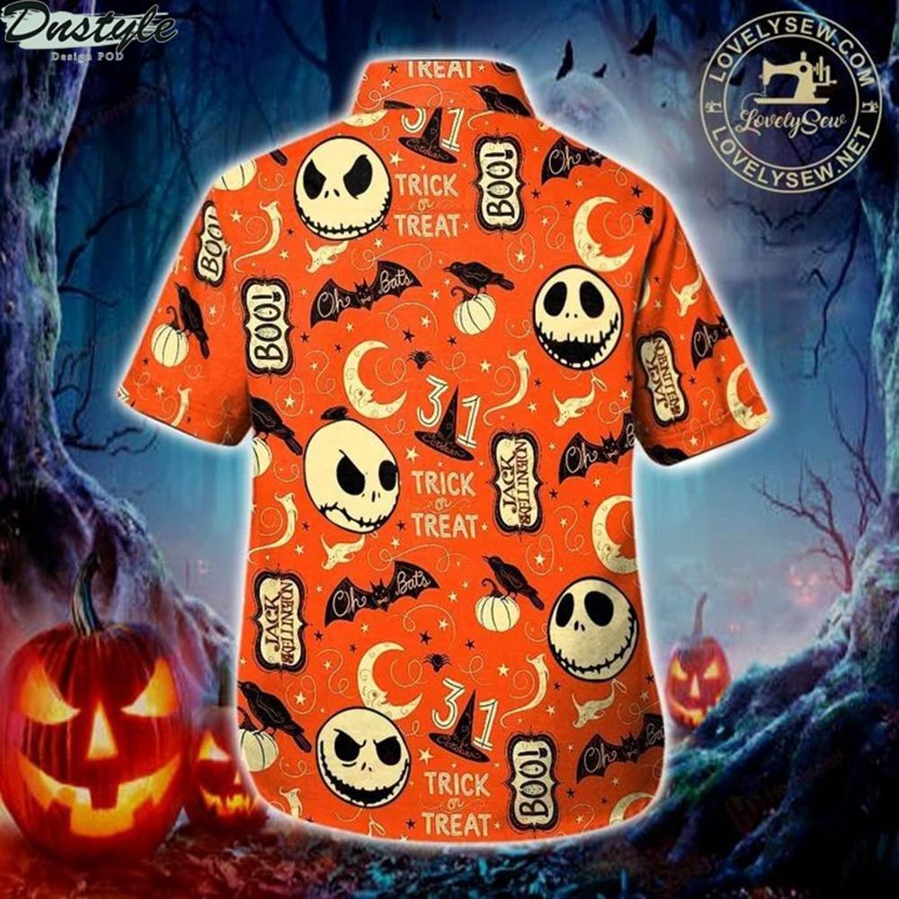 Jack skellington trick or treat hawaiian shirt 1