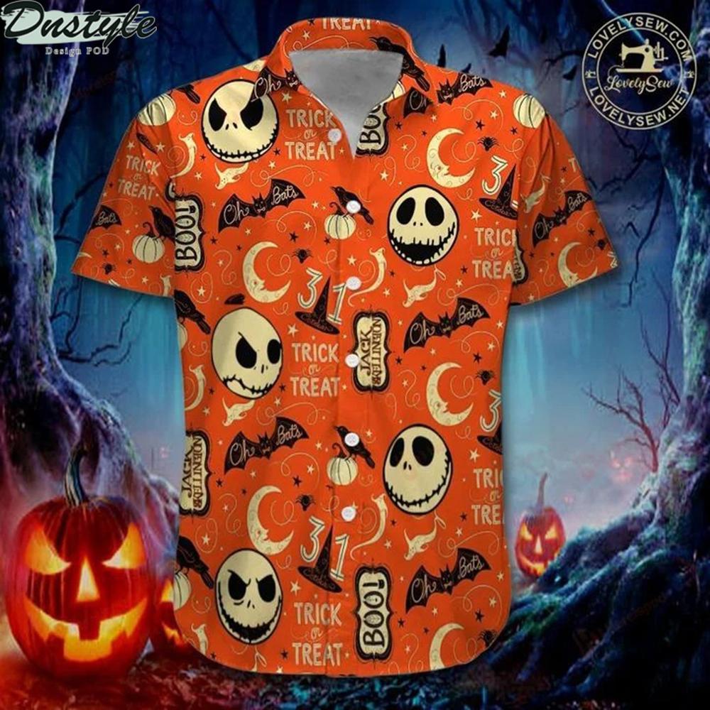 Jack skellington trick or treat hawaiian shirt