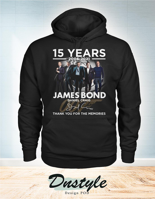 James Bond Daniel Craig 15 years thank you for the memories hoodie
