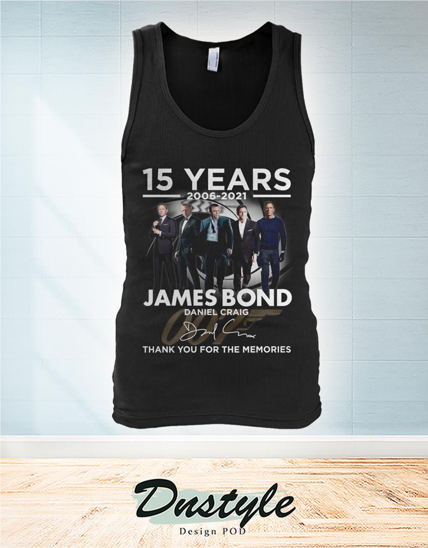 James Bond Daniel Craig 15 years thank you for the memories tank