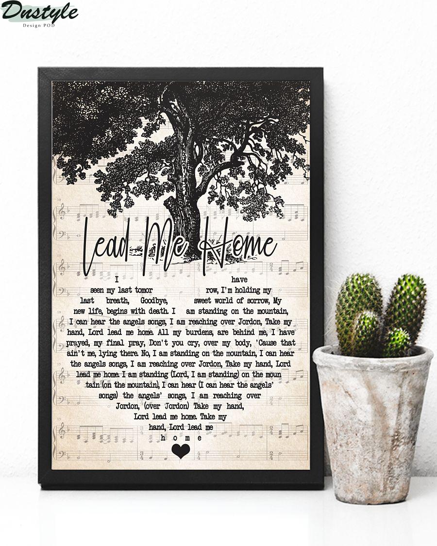 Jamey Johnson Lead Me Home Lyric Poster 2