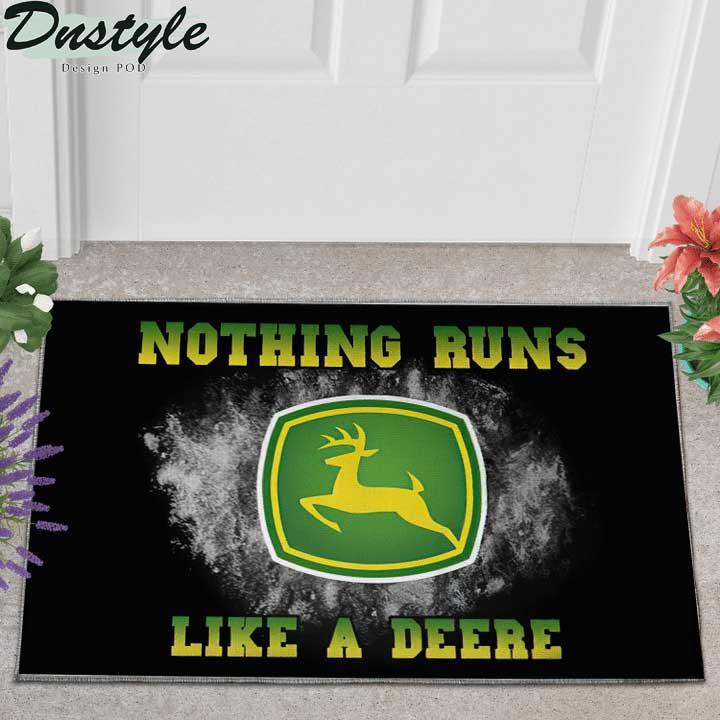 John Deere nothing runs like a deere doormat 1