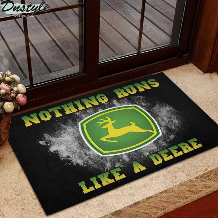 John Deere nothing runs like a deere doormat