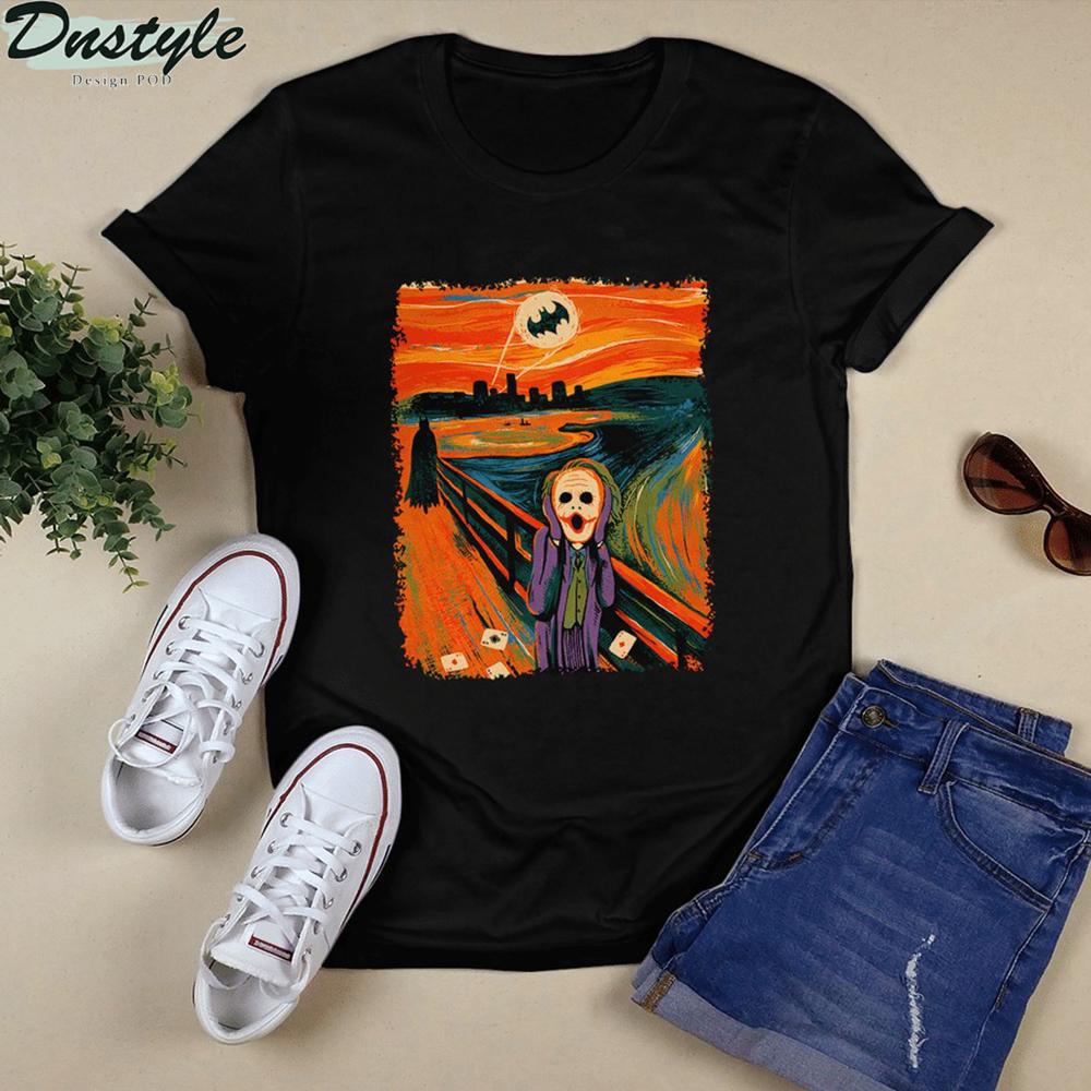 Joker screaming starry night van gogh shirt 1