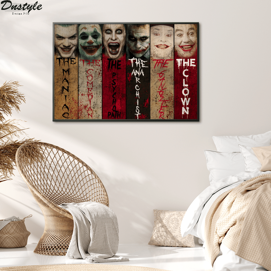 Joker the maniac the comedian the psychopath canvas 2