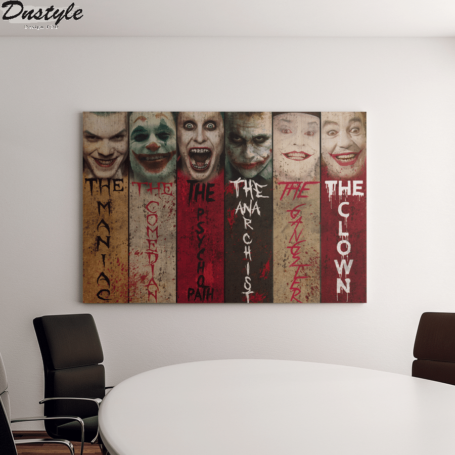 Joker the maniac the comedian the psychopath canvas