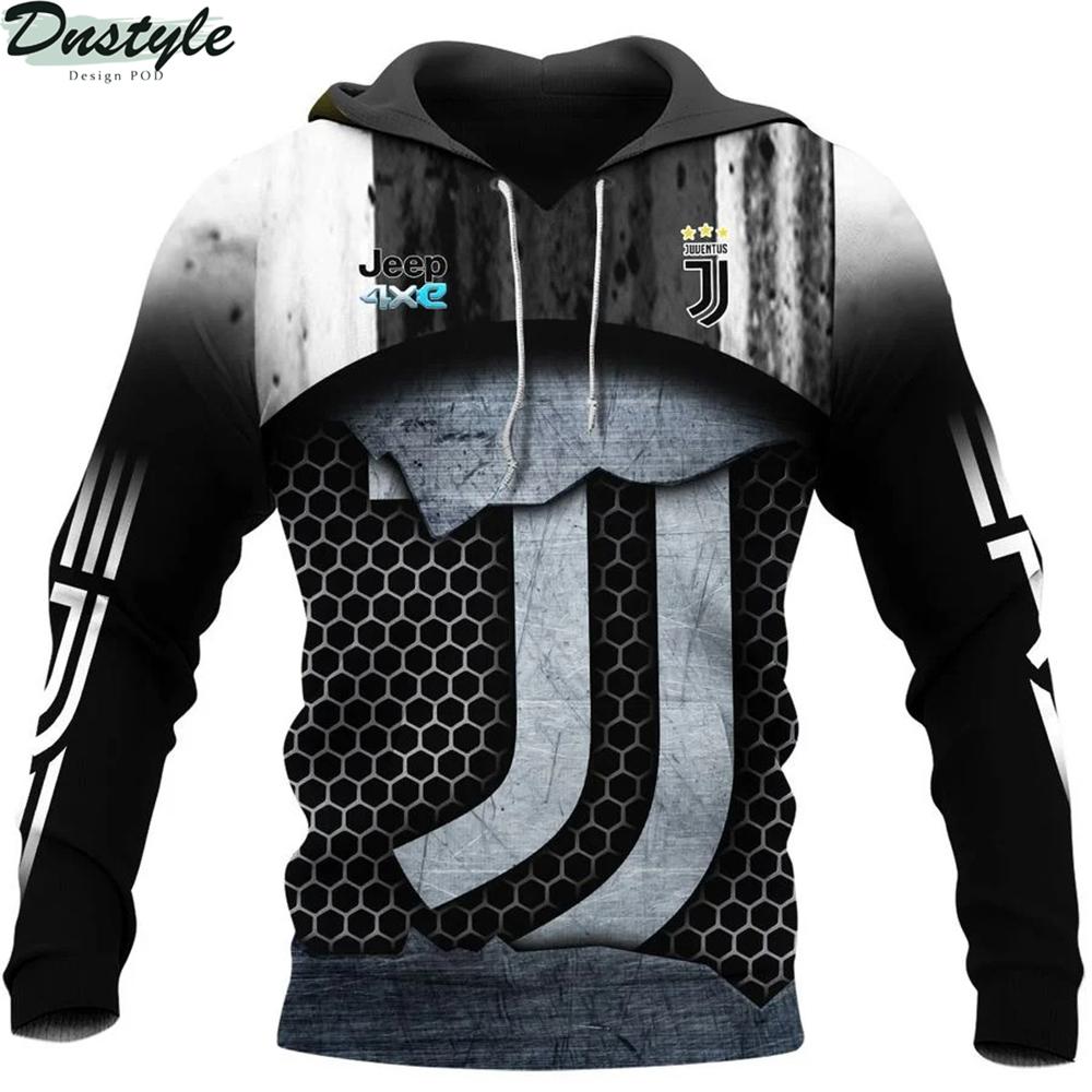 Juventus 3d all over printed hoodie 1