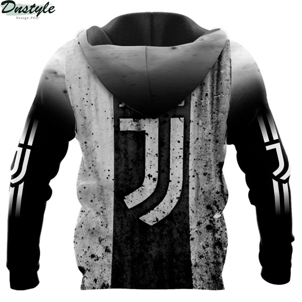 Juventus 3d all over printed zip hoodie 1