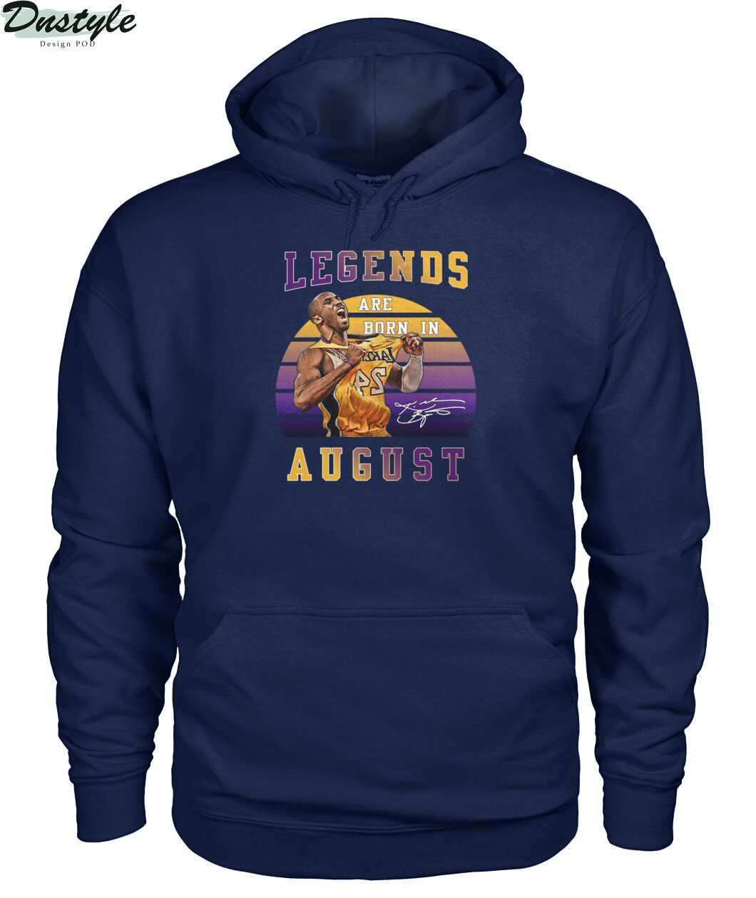 Kobe Bryant signature legends are born in august hoodie