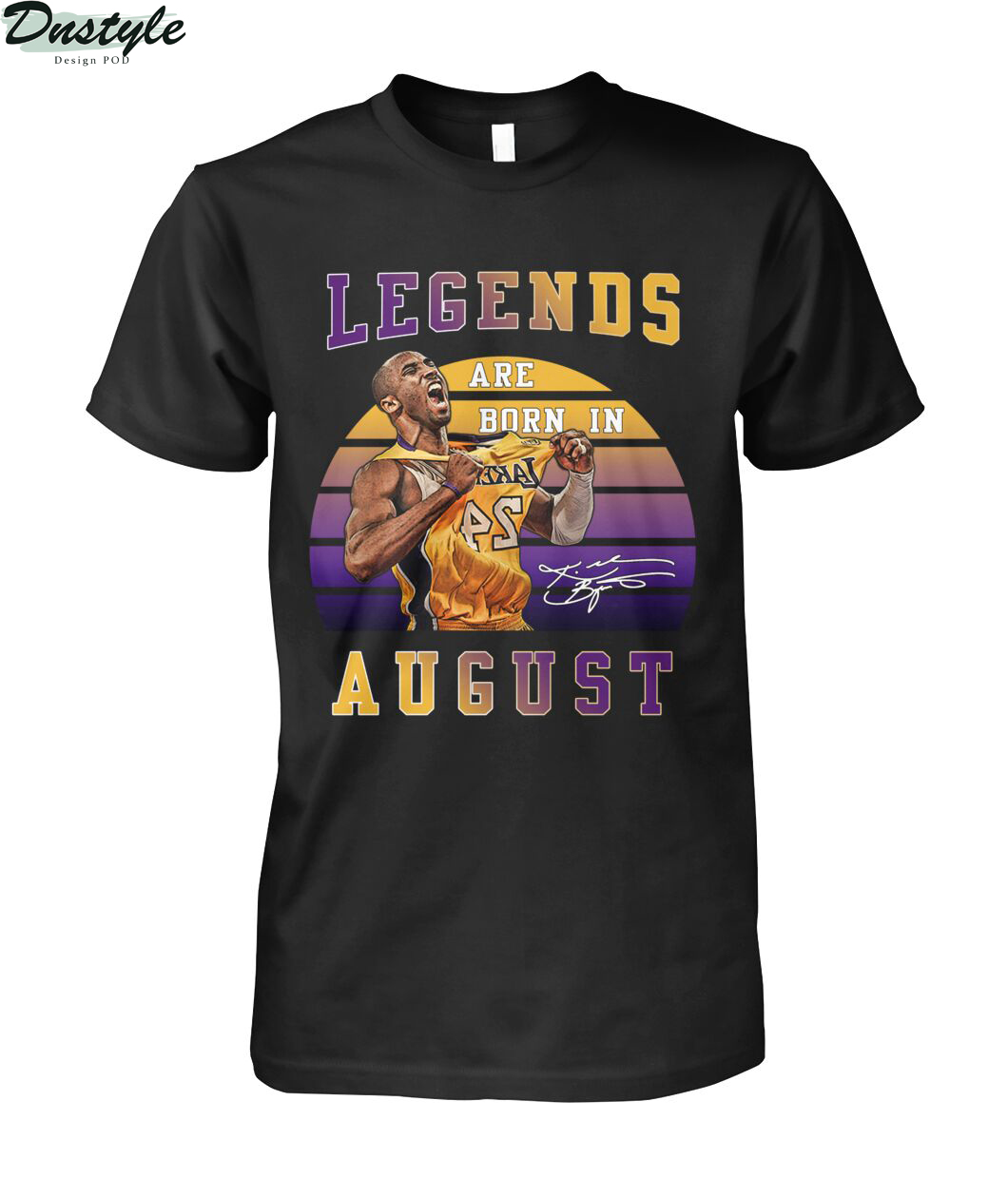 Kobe Bryant signature legends are born in august shirt