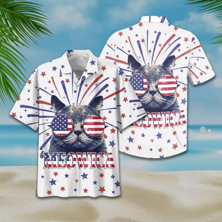 Kool Cat 'Meowica Hawaiian Shirt