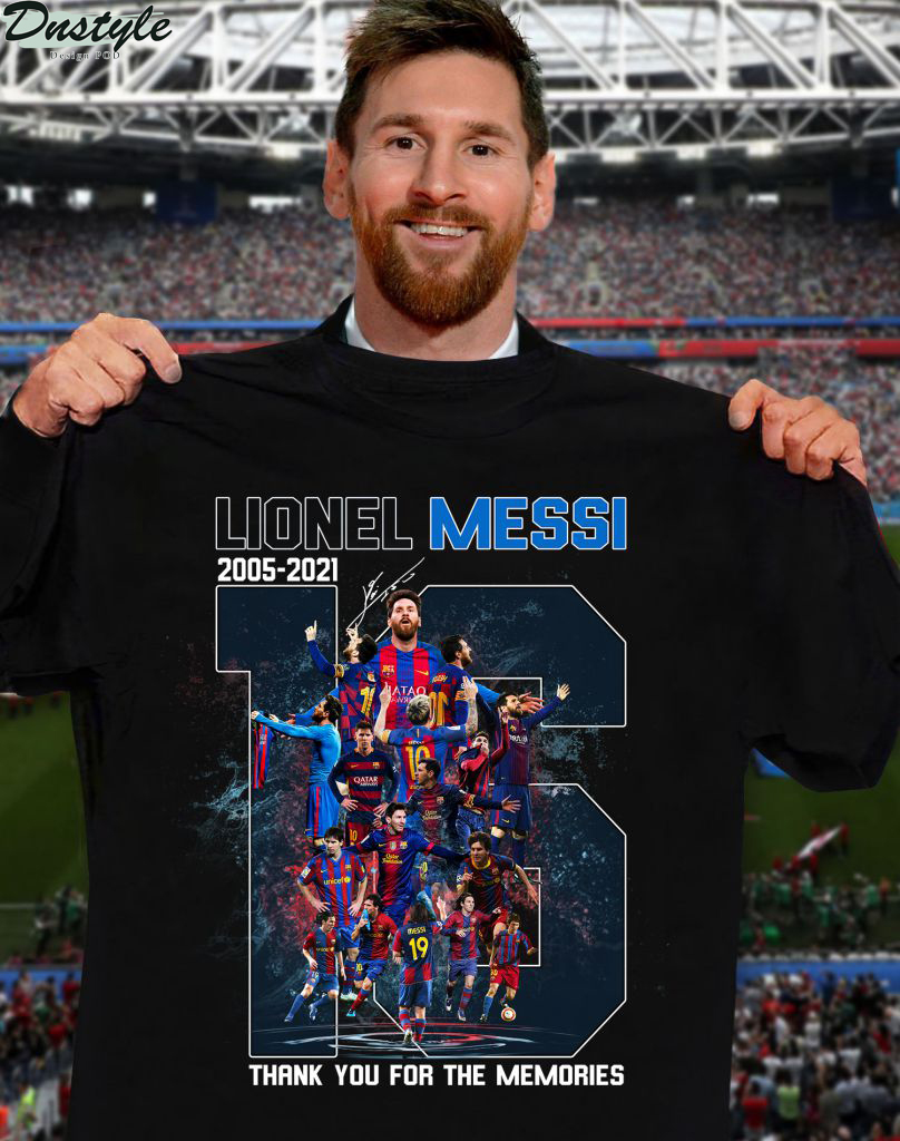 Lionel Messi 16 years signature thank you for the memories shirt