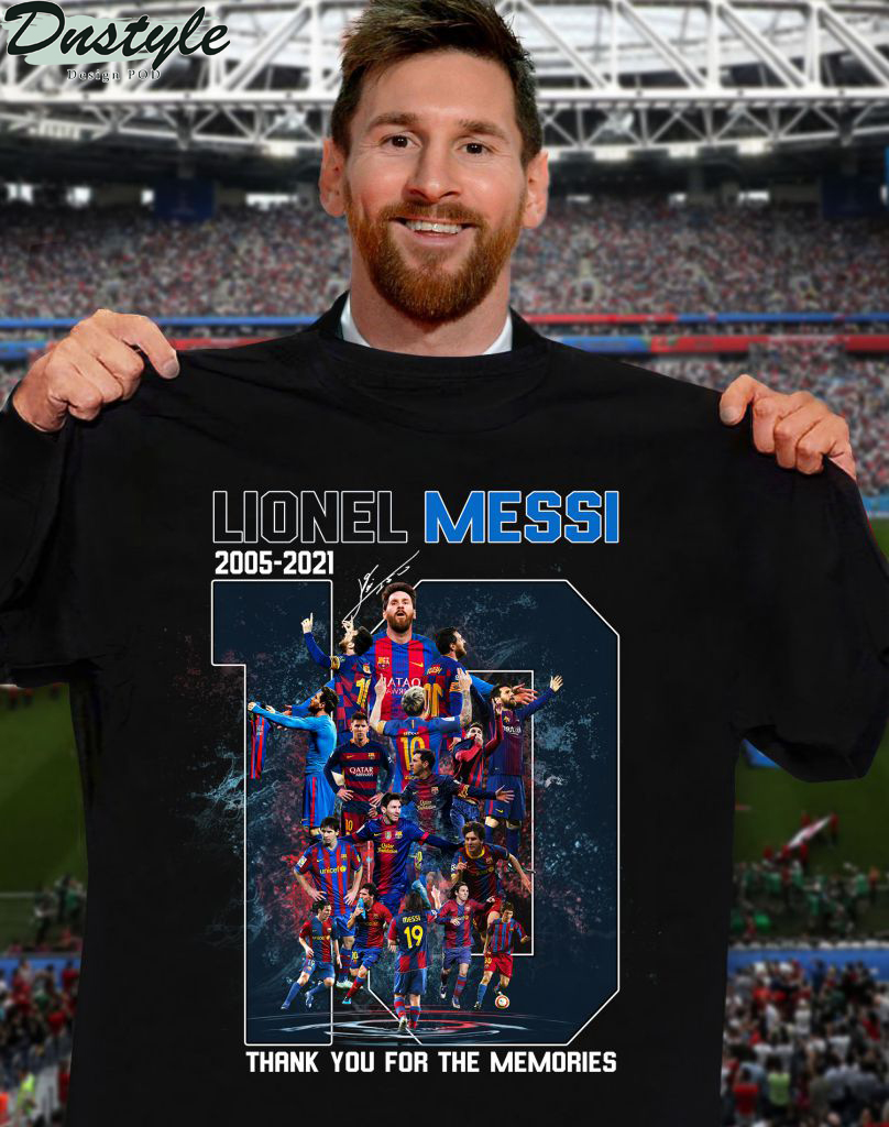 Lionel Messi number 10 signature thank you for the memories shirt
