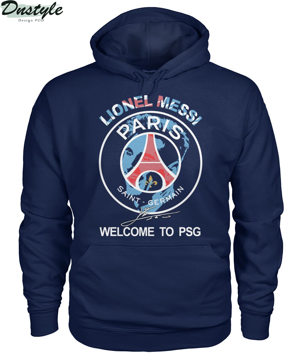 Lionel Messi signature welcome to PSG hoodie