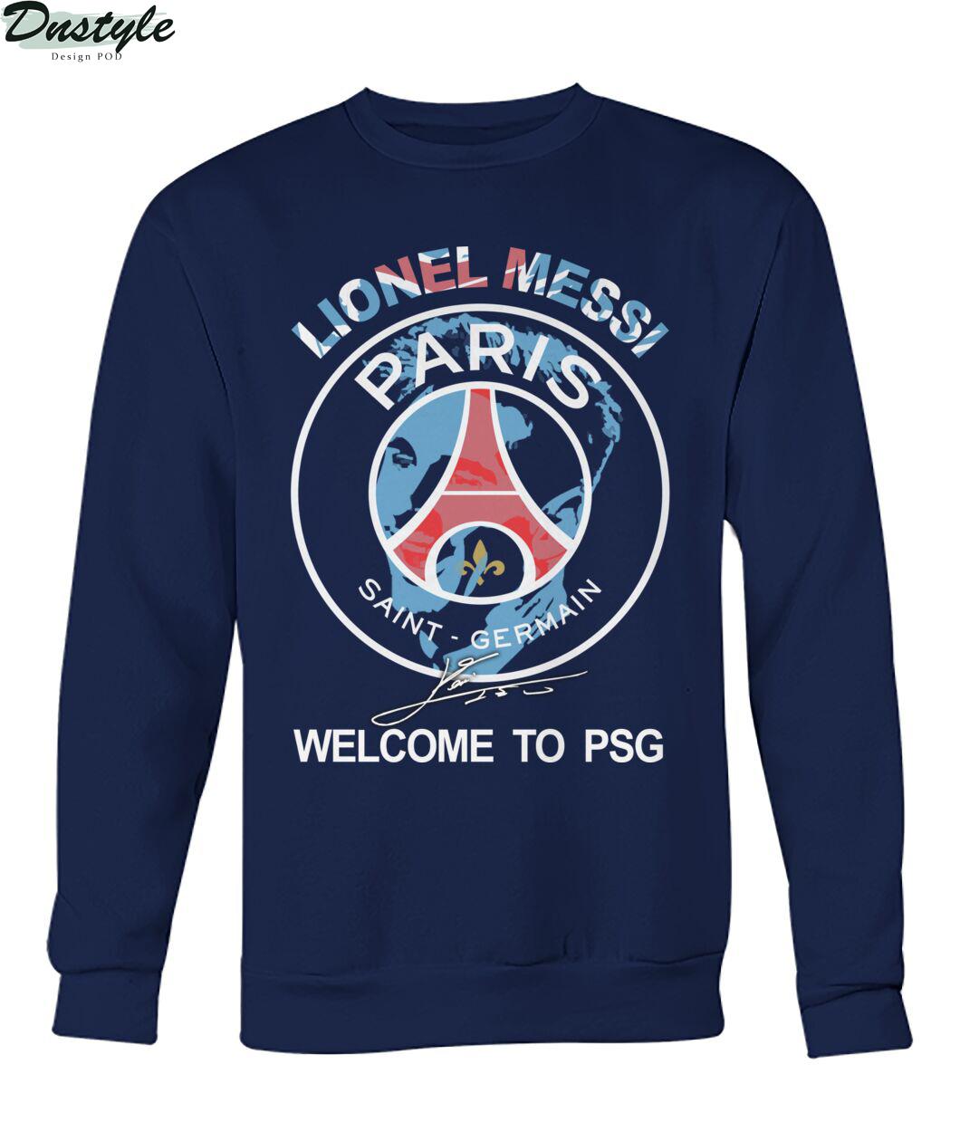 Lionel Messi signature welcome to PSG sweatshirt