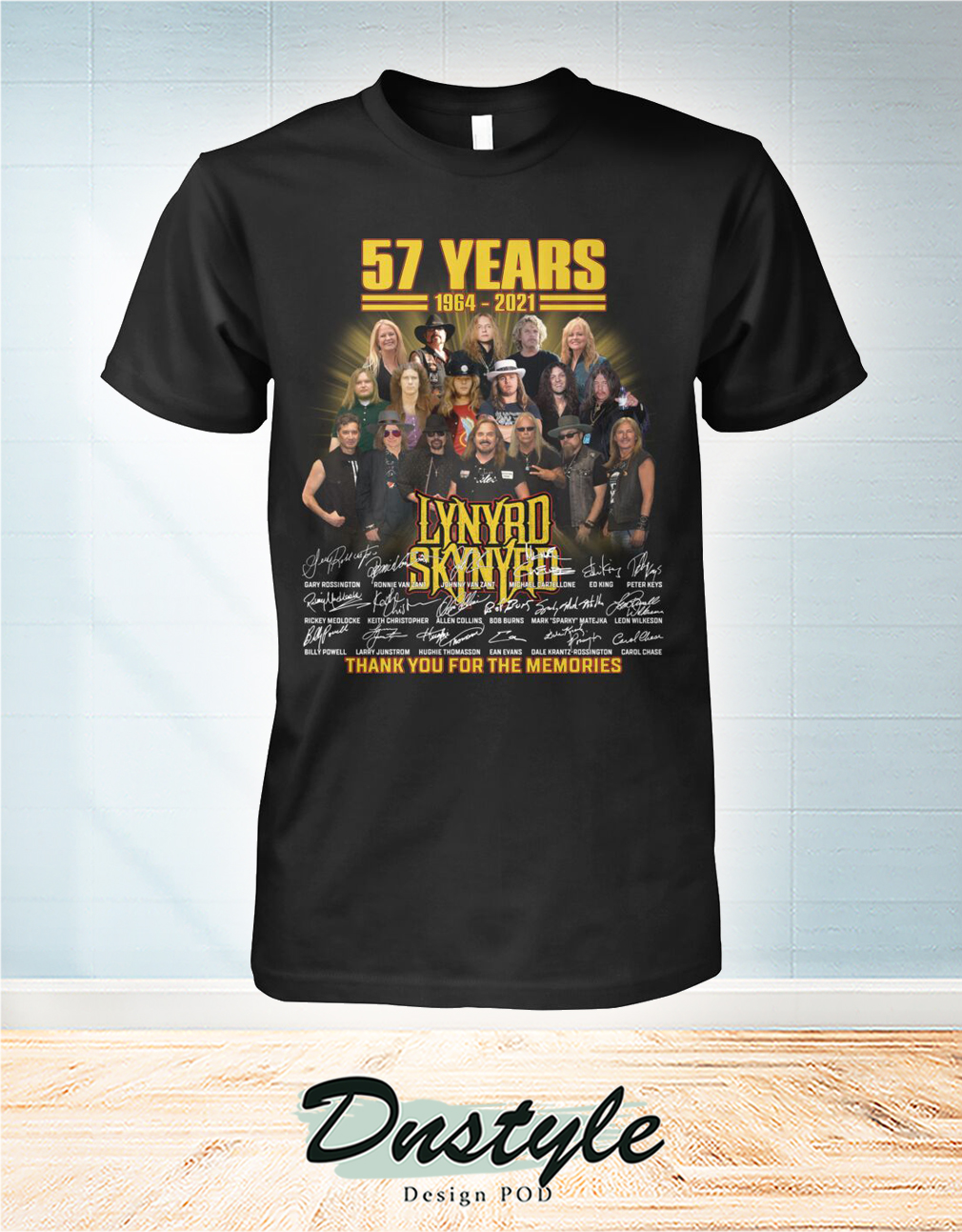 Lynyrd Skynyrd 57 years signature thank you for the memories shirt