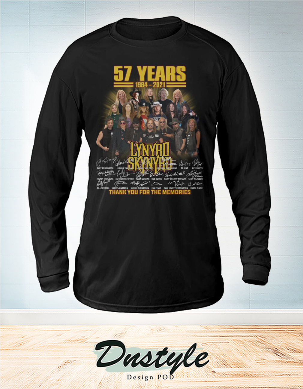 Lynyrd Skynyrd 57 years signature thank you for the memories sweatshirt