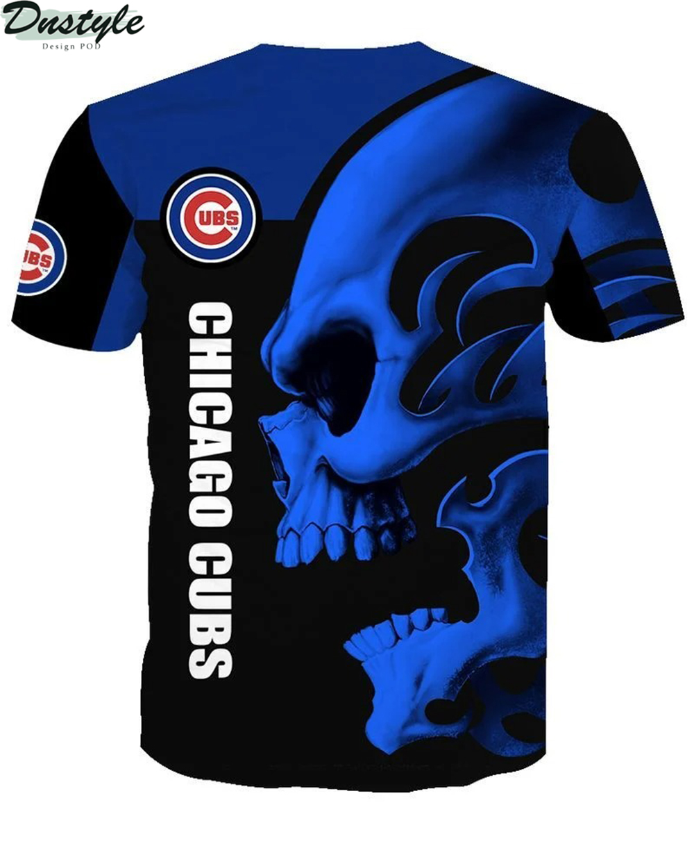 MLB chicago cubs skull 3d all over printed shirt 1
