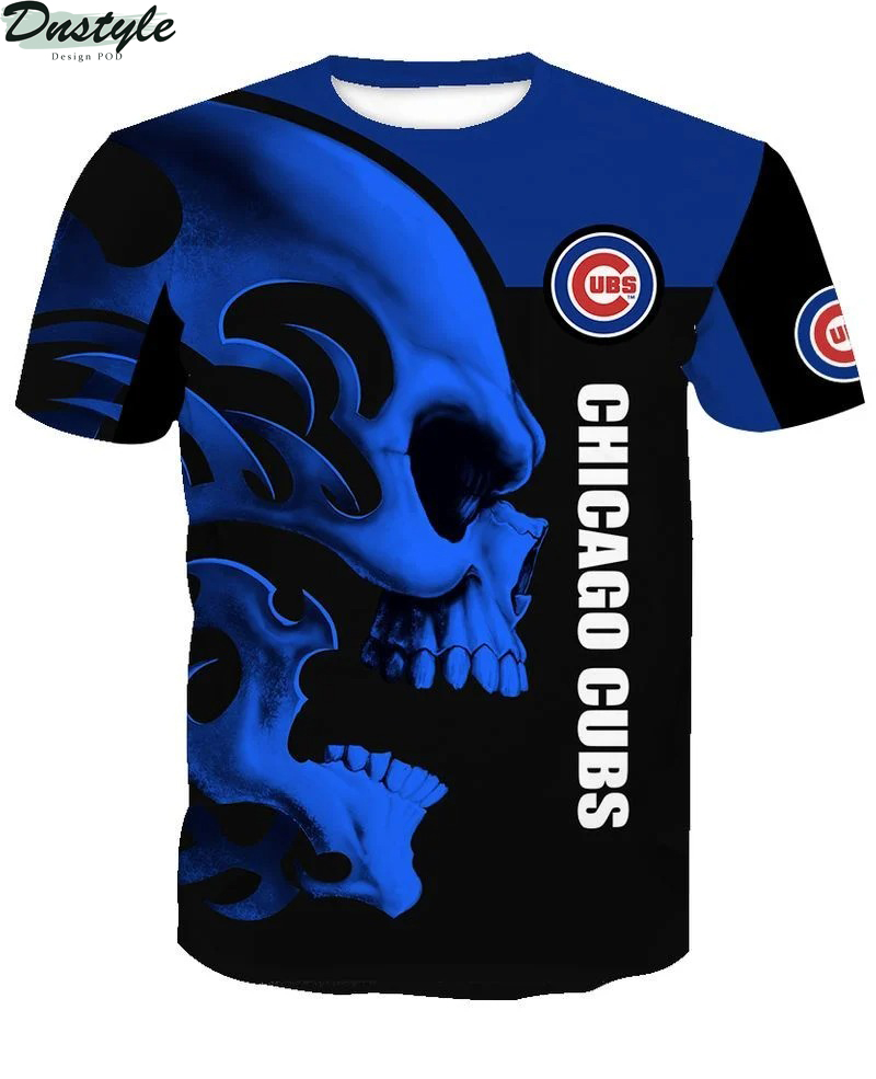 MLB chicago cubs skull 3d all over printed shirt