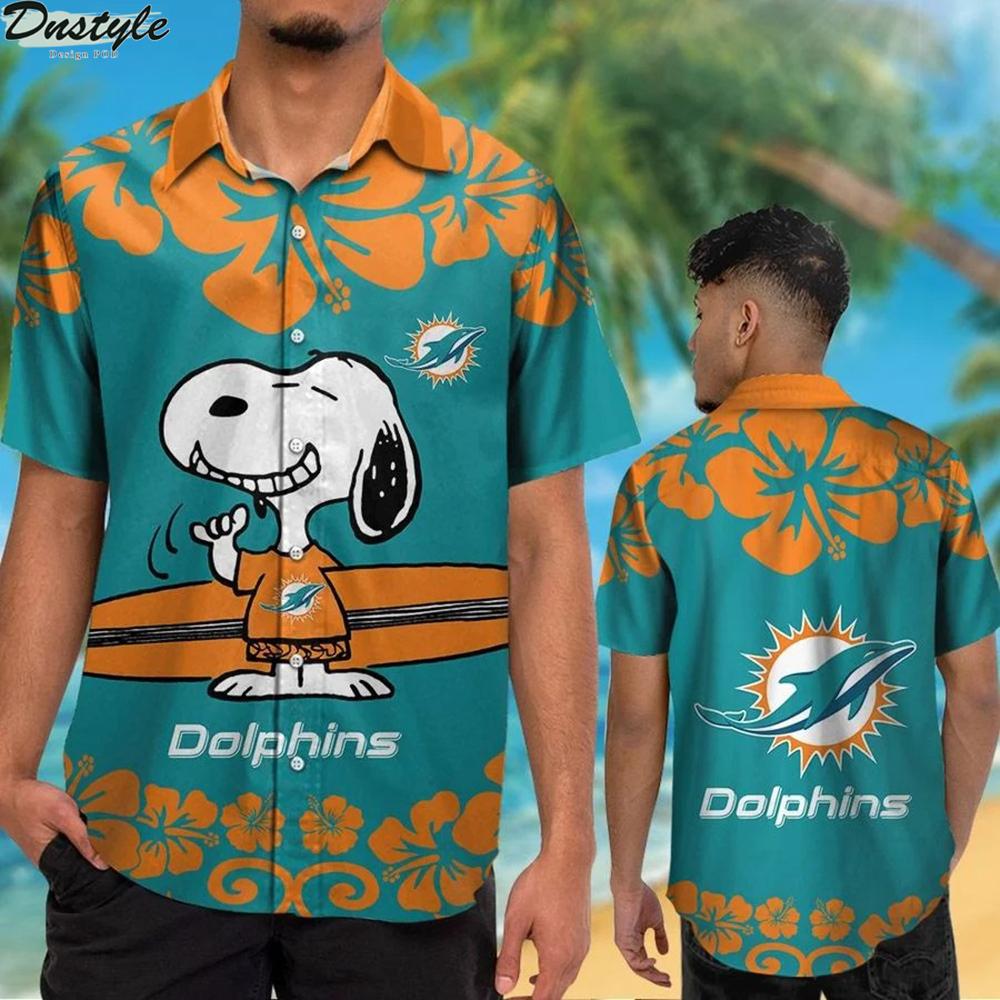 Miami dolphins and snoopy hawaiian shirt