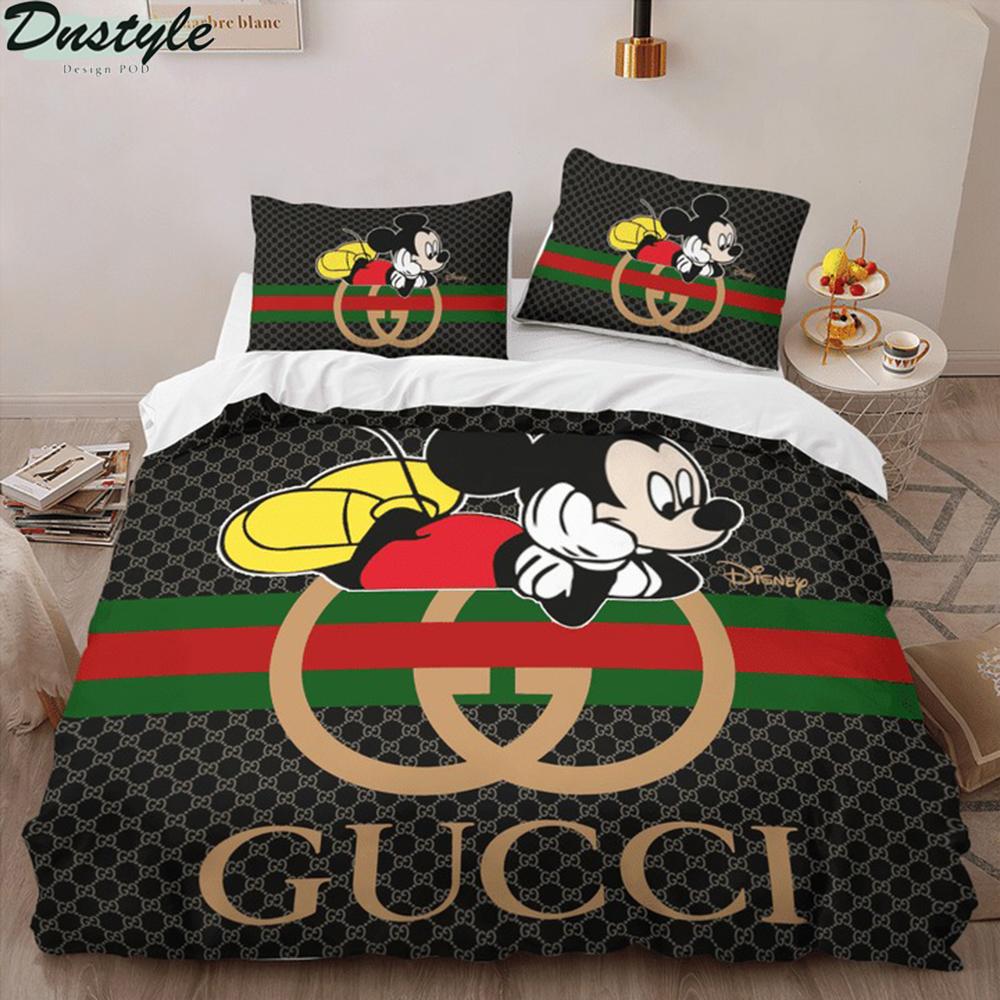 Mickey disney Gucci 3d bedding set 1