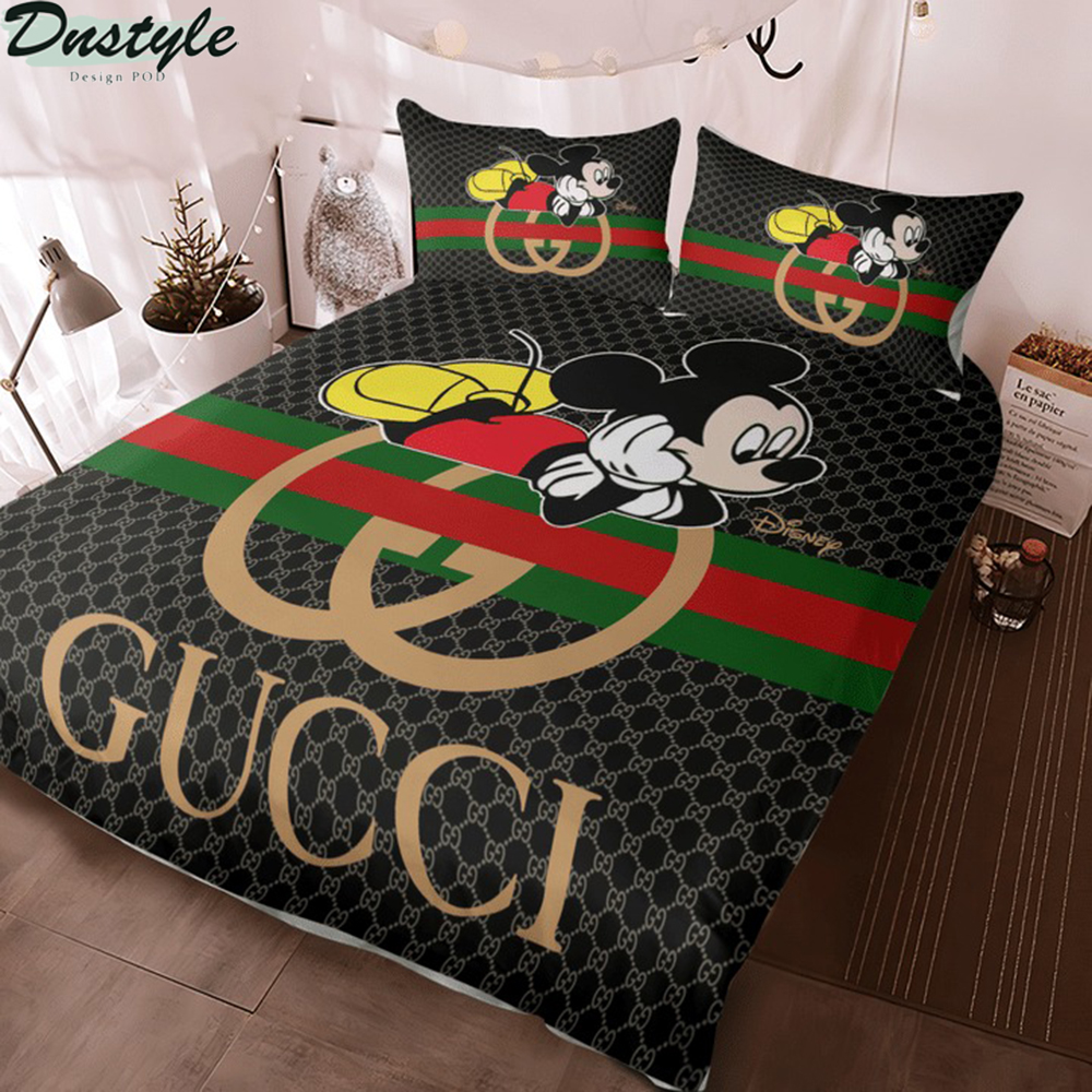 Mickey disney Gucci 3d bedding set 2