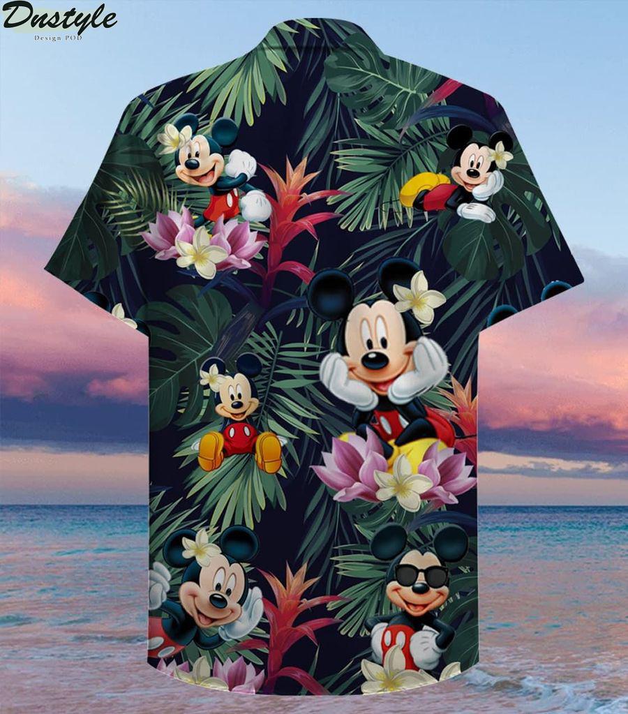 Mickey mouse summer button up hawaiian shirt 2