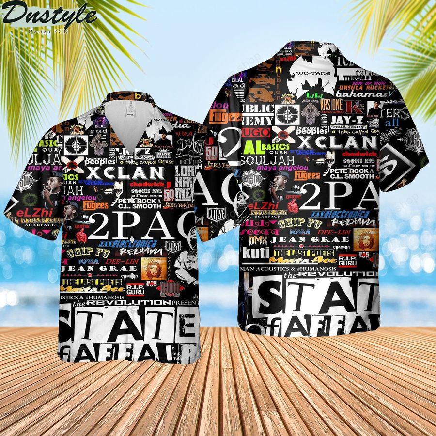 Music Rock Bands Pattern Summer Hawaiian Shirt