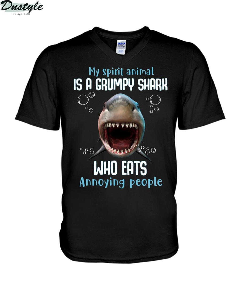 My spirit animal is a grumpy shark who eats annoying people v-neck