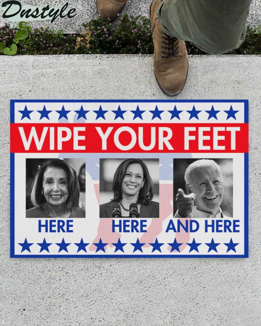 Nancy Pelosi Kamala Harris Joe Biden wipe your feet here doormat 1