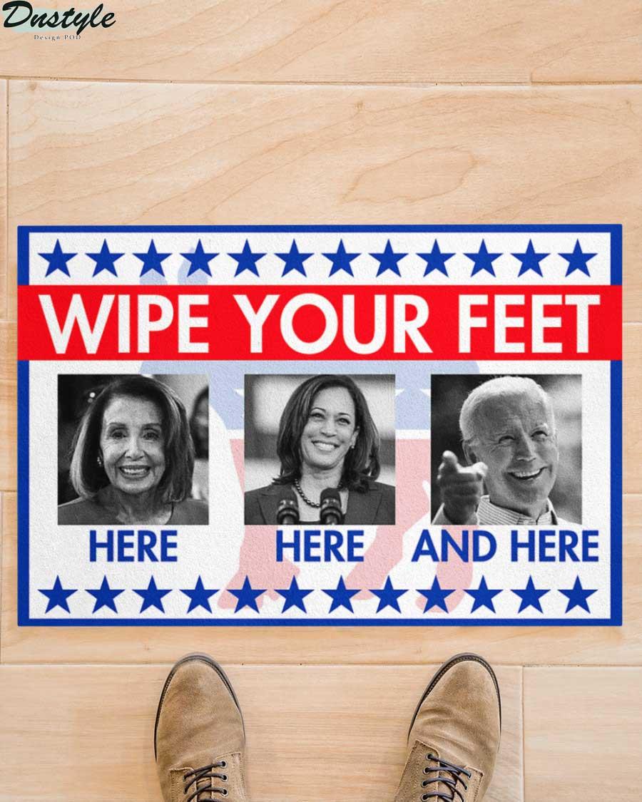 Nancy Pelosi Kamala Harris Joe Biden wipe your feet here doormat 2