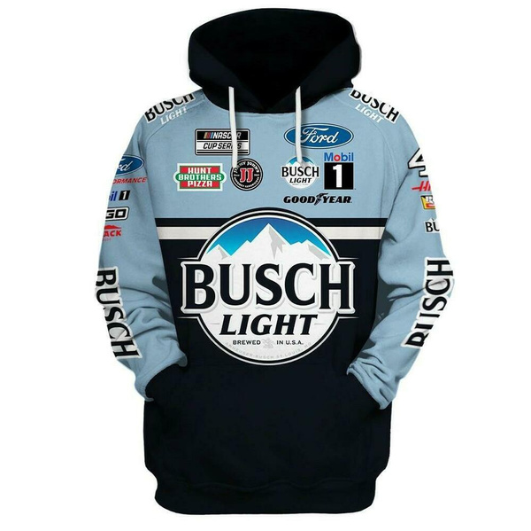Nascar Kevin Harvick busch light 3d all over printed hoodie