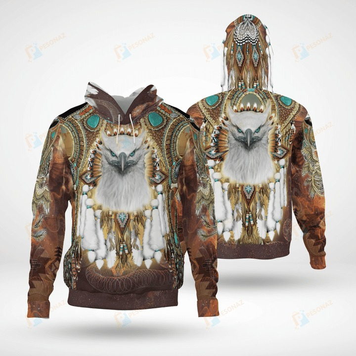 Native american 3d all over printed hoodie