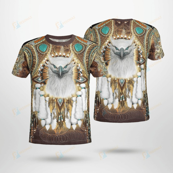 Native american 3d all over printed t-shirt