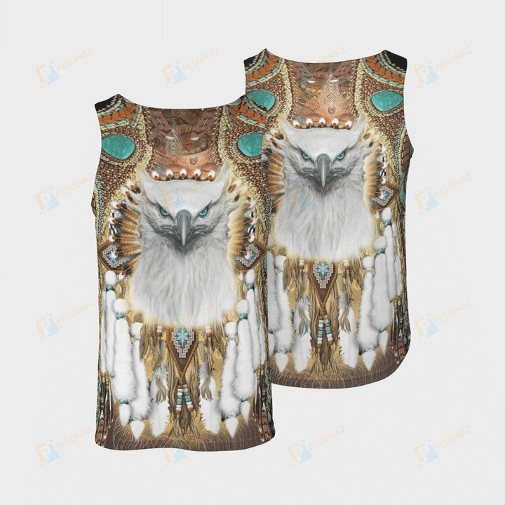 Native american 3d all over printed tank top