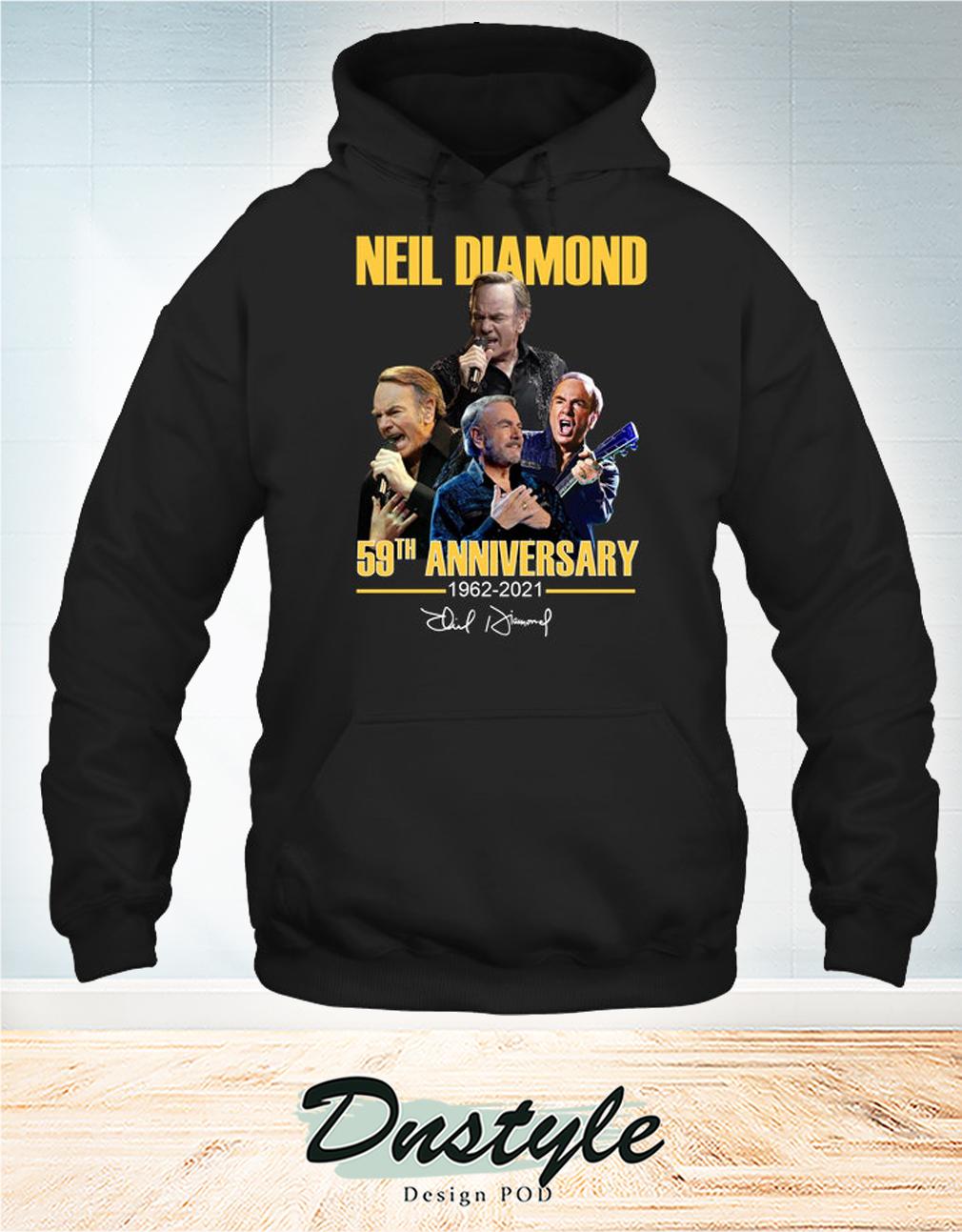 Neil Diamond 59th anniversary 1962 2021 signature hoodie