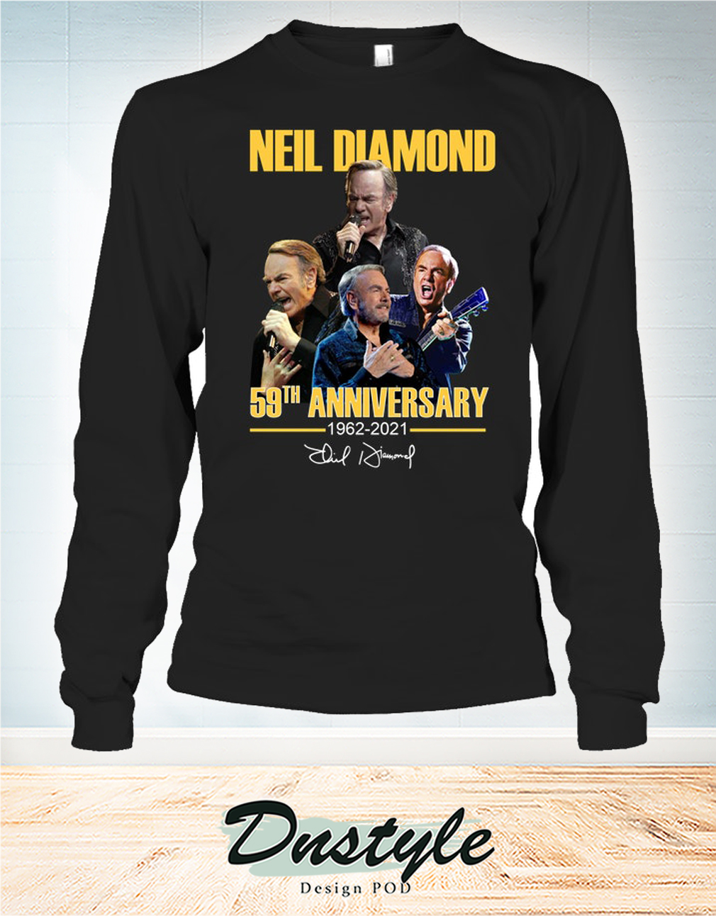 Neil Diamond 59th anniversary 1962 2021 signature long sleeve