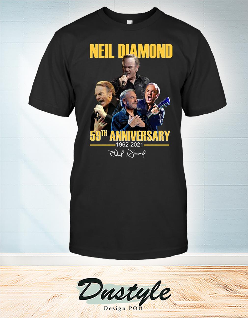 Neil Diamond 59th anniversary 1962 2021 signature shirt