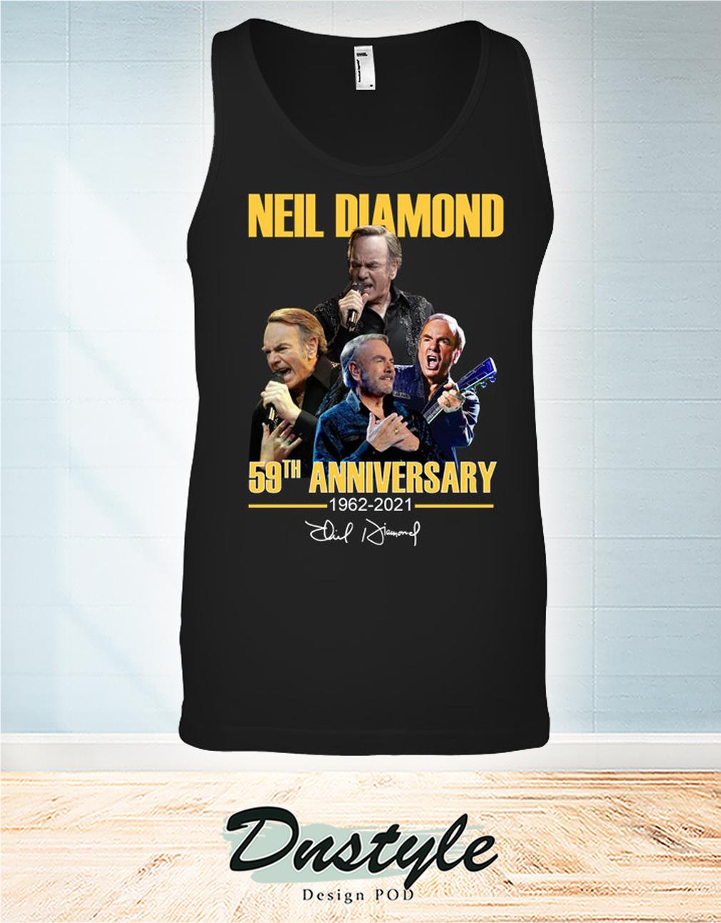 Neil Diamond 59th anniversary 1962 2021 signature tank top