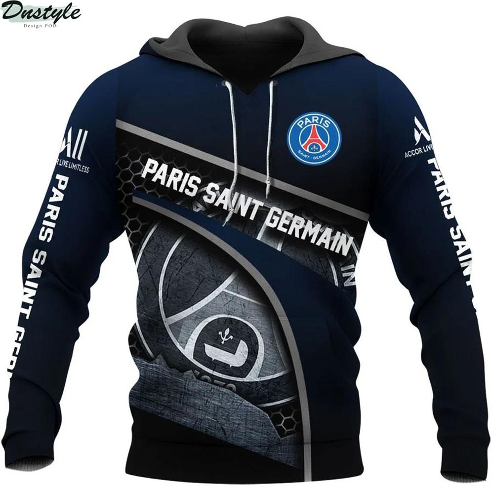 Paris saint germain 3d all over printed hoodie