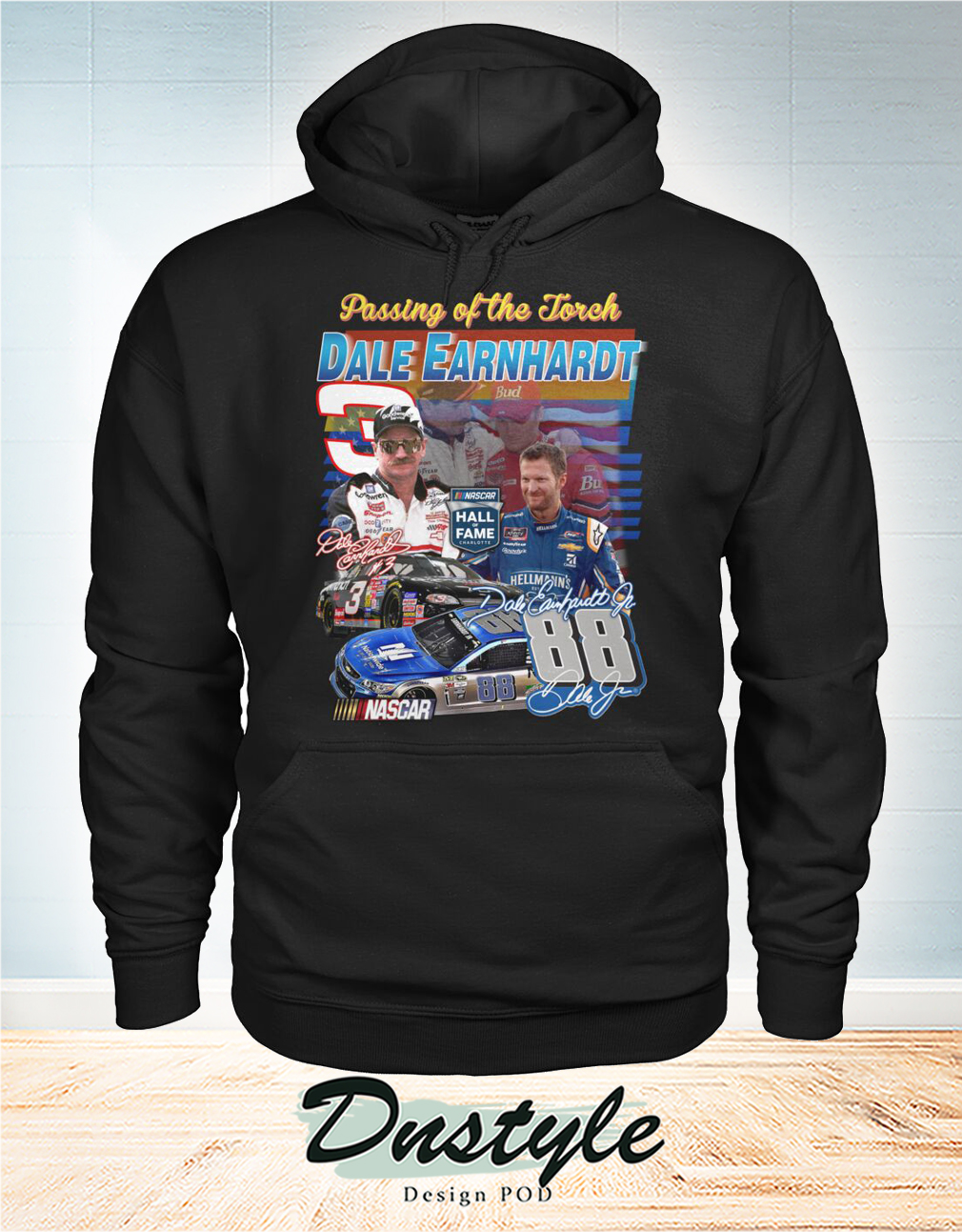 Passing of the forch Dale Earnhardt signature hoodie
