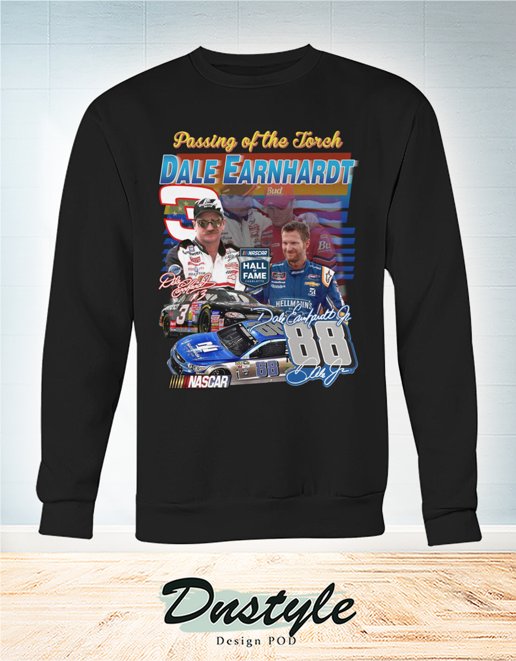 Passing of the forch Dale Earnhardt signature sweatshirt