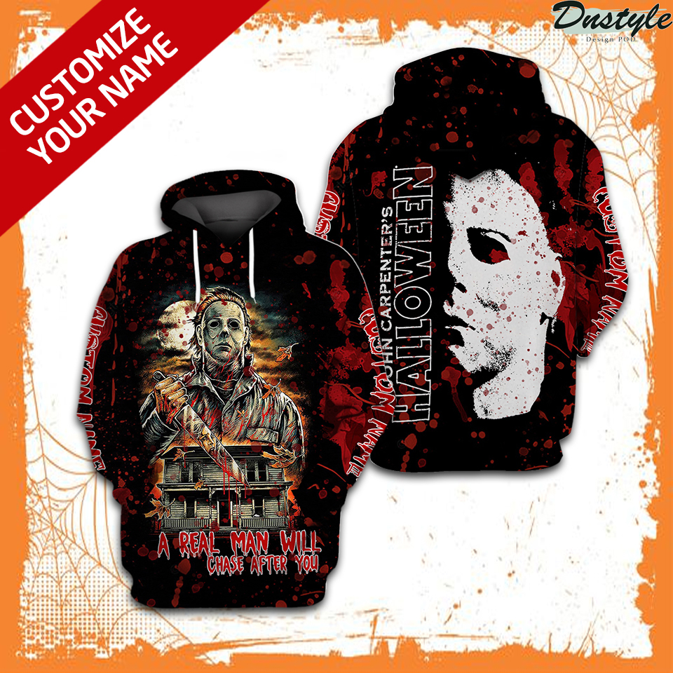 Personalized custom name Michael Myers John Carpenter halloween 3d hoodie 1