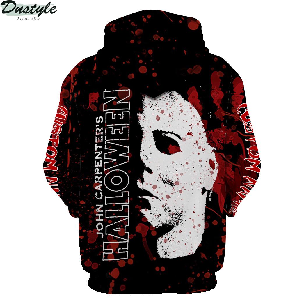 Personalized custom name Michael Myers John Carpenter halloween 3d hoodie 2