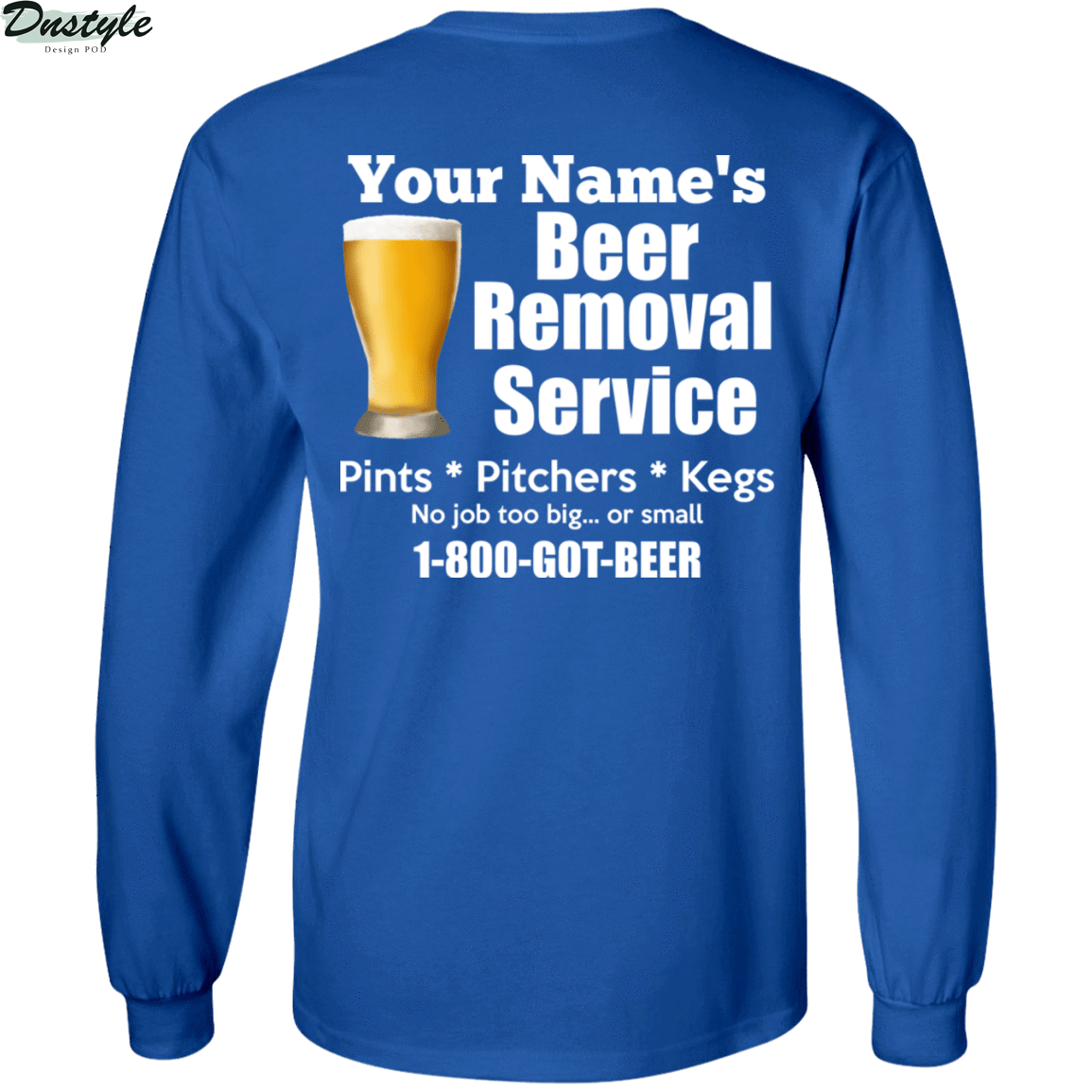 Personalized custom name beer removal service pints pitchers kegs shirt 3