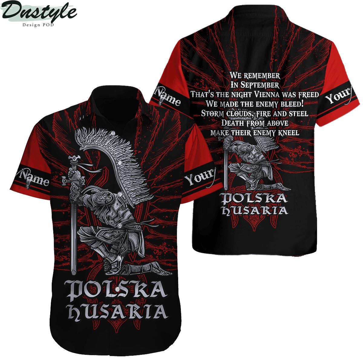 Personalized custom name polska husaria 3d all over printed hawaiian shirt