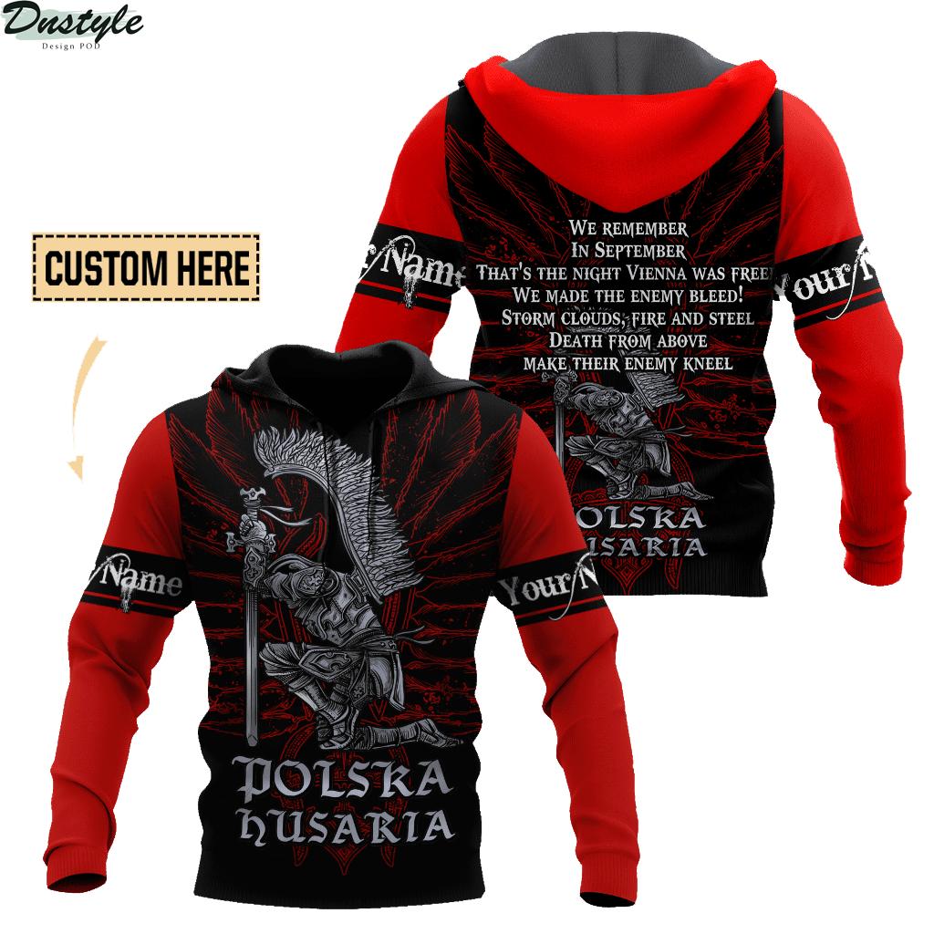 Personalized custom name polska husaria 3d all over printed hoodie