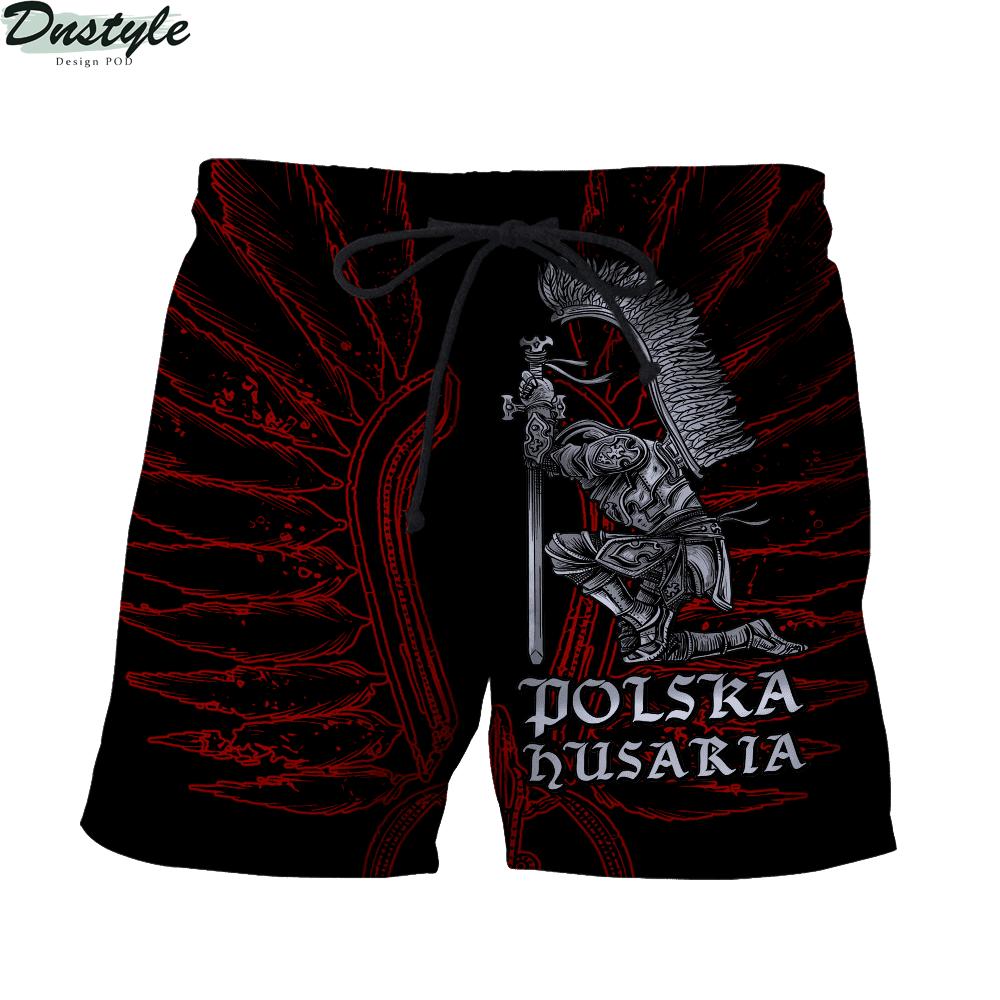 Personalized custom name polska husaria 3d all over printed short