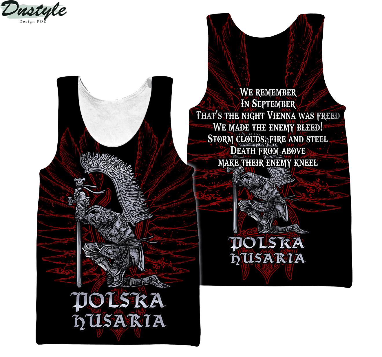 Personalized custom name polska husaria 3d all over printed tank top