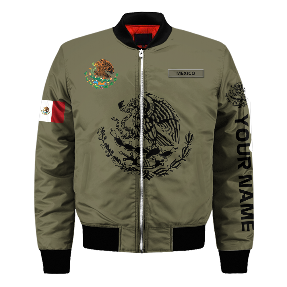 Personalized mexican 3d all over printed unisex bomber jacket